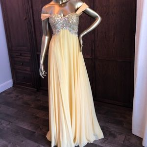Yellow Jovani Gown